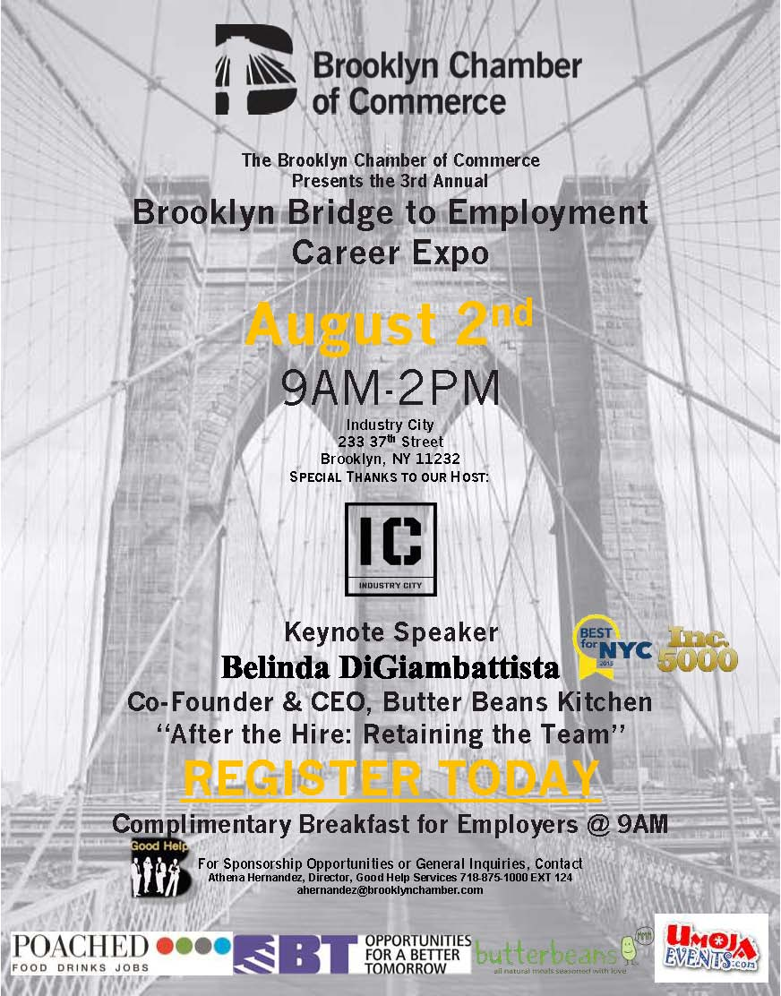 bridge to employment jpg brooklyn bridge to employment is a unique career expo focusing on the employment needs of brooklyn businesses our employers will have the opportunity to